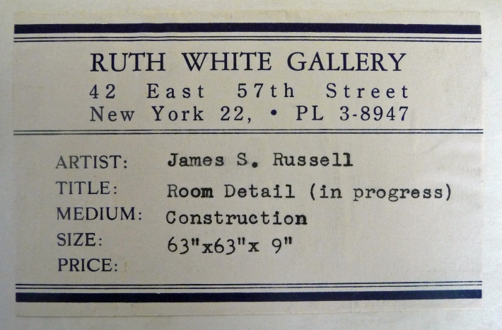 Ruth White Gallery Tag