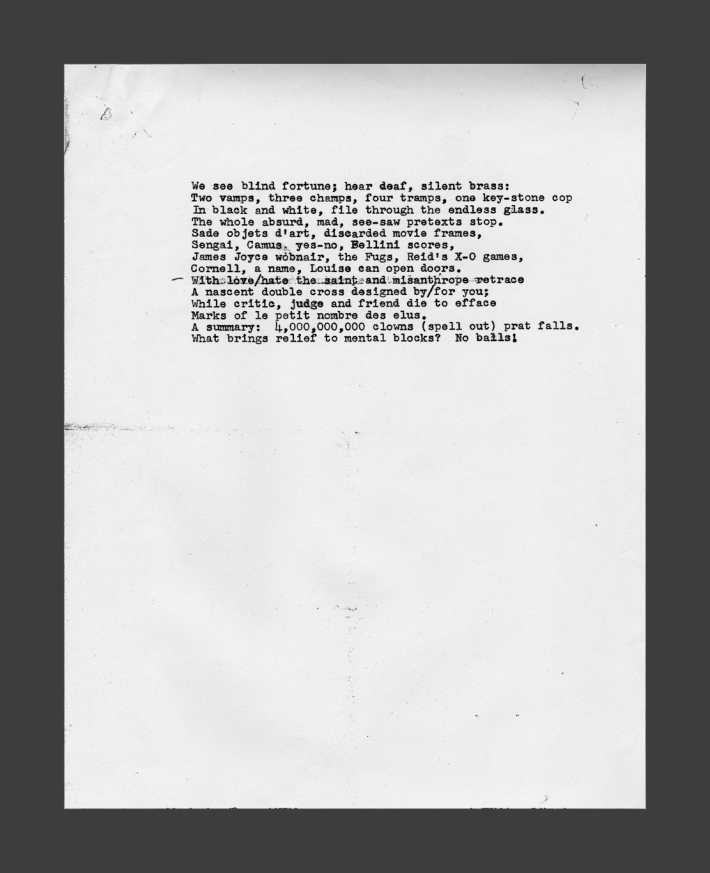Sonnet 1, undated, collection of Wade Bussert