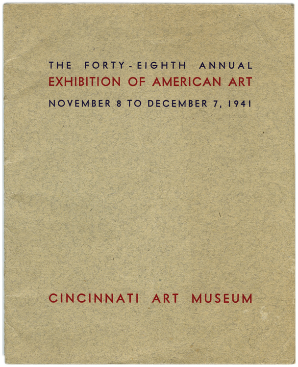 Cover of Exhibition Catalog, Collection of Wade Bussert