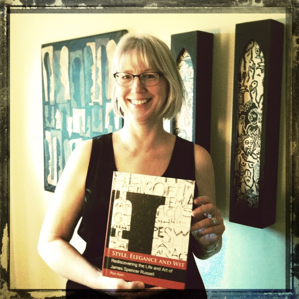 Julie With Our Book