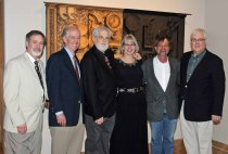 Mark Ruschman,* (Chief Curator of Fine Art, Indiana State Museum) Jack Russell Jim's nephew), Ron Kern,* Julie Kern,* Wade Bussert (good friend of Jim's and keeper of Jim's personal archive) and Dr. Steven Conant, MD*  *Exhibition Committee