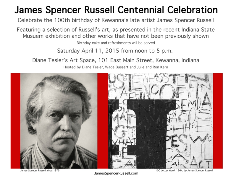 Russell's 100th Birthday Poster